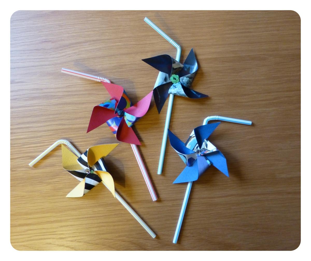 DIY : Pailles - moulins à vent