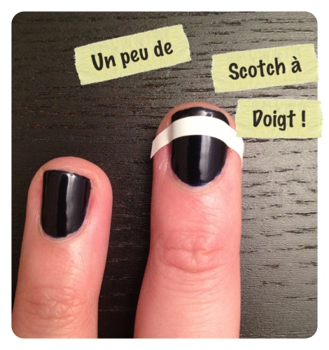 scotch à doigt - nail art