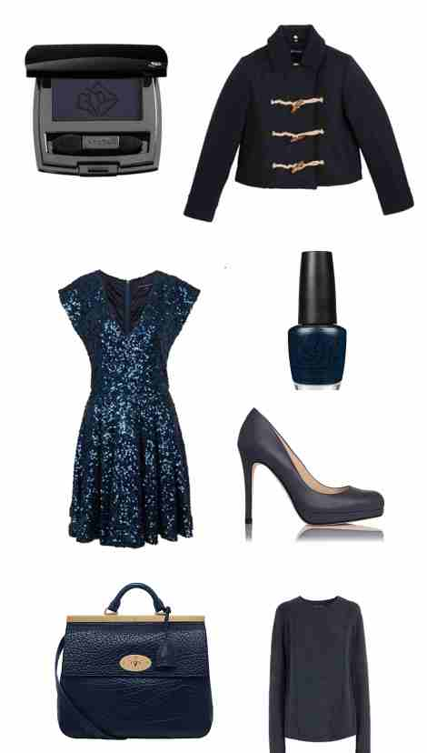 mood, board, inspiration, shopping, octobre, bleu, marine, navy, blue