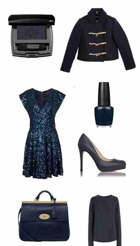mood, board, inspiration, shopping, octobre, bleu, marine, navy, blue