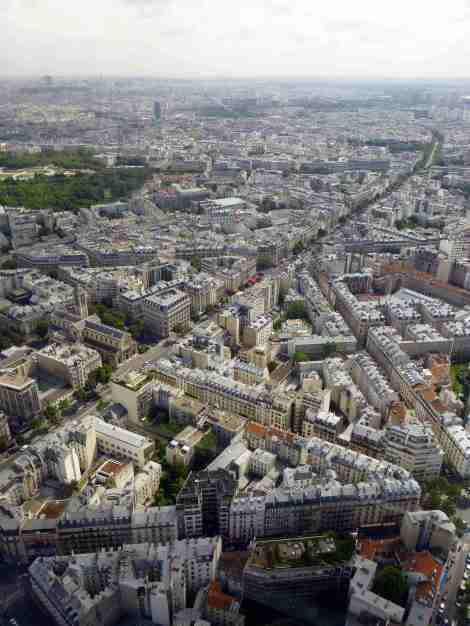 tour, montparnasse, paris, rues, vue, photo