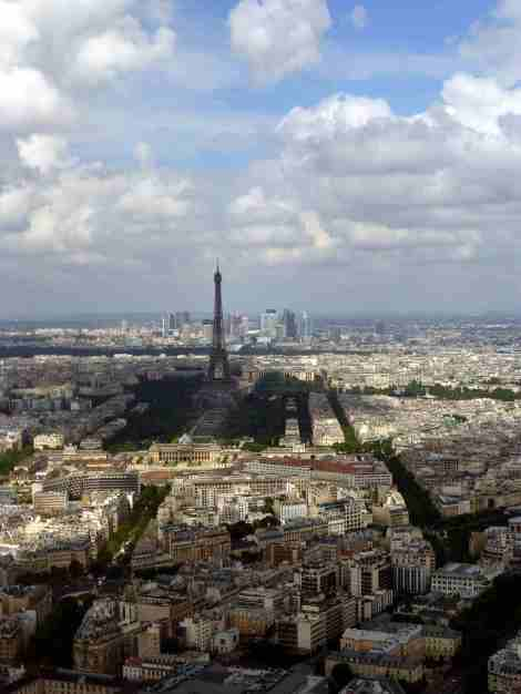 tour, montparnasse, eiffeil, paris, vue, photo