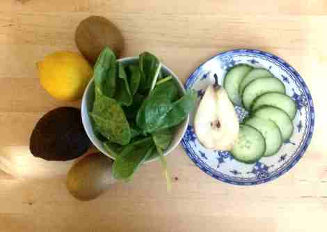 green, smoothie, fruits, légumes, recette, vert