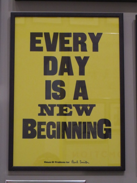 PS Every day is a new beginning