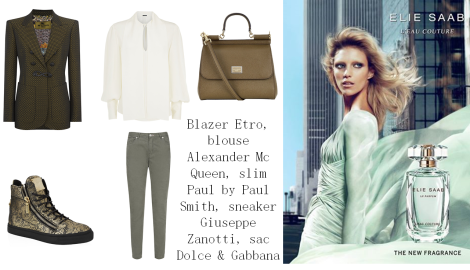 Look parf Elie Saab L'eau couture