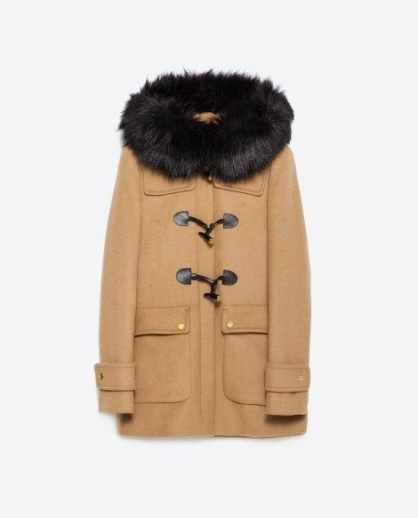 duffle coat zara aw2015